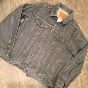 Levi's grey denim trucker jacket 13-15 years XL